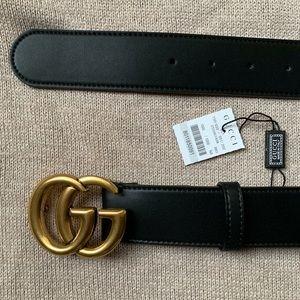 New Gucci Gold Belt Double G Women Marmot Logo GG